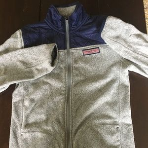 Vineyard Vines Boys Sweater Fleece Jacket Zip Lg